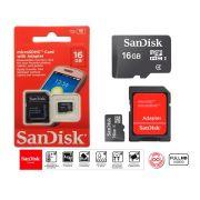 Cartão De Memória Micro Sd Sandisk 16gb Original + Adaptador