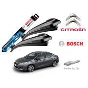 Jogo Palheta Dianteira Bosch Citroen C4 Lounge 2013 a 2018
