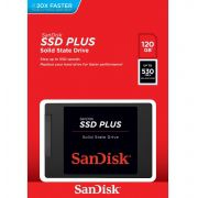 SSD Sandisk Plus 120GB Sata III 6GB/s 2,5 Pol 7mm