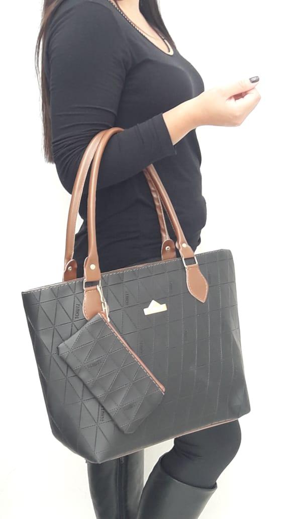 a2c16f98c Bolsa Feminina Detalhes Baixo Relexo Espaçosa - Sobrinhos Moda