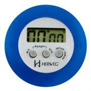 Cronômetro Digital Progressivo Regressivo Azul Timer Herweg