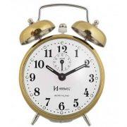 Despertador Herweg 2370 Dourado Picoteado Vintage Relógio