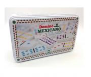 Jogo de dominó Trem Mexicano 91 pedras na lata profissional