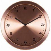 Relógio 6456 Parede Alumínio Escovado Cobreado Herweg