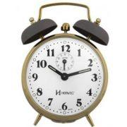Relógio Despertador a Cordas Novo Retrô Cinza Dourado Herweg 2215 080