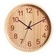 Relógio Parede 26 cm Tictac Carvalho Madeira Herweg 6479T