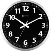 Relógio Parede 40cm Preto Alumínio Silencioso 6720s