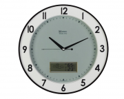 Relógio Parede Preto Cinza 34cm Termômetro Herweg 6805