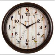 Relógio Parede Sweep Canto Pássaros Brasileiros Herweg
