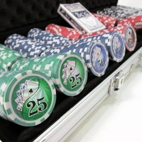 Conjunto De Jogo De Poker 500pç Com Maleta