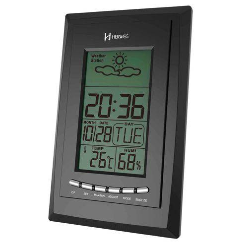 Despertador Digital Herweg 2970 034 Termometro Calendario