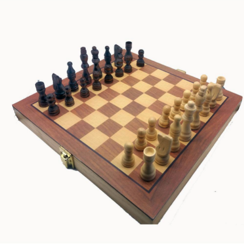 Jogo de Xadrez tabuleiro e peças madeira oficial