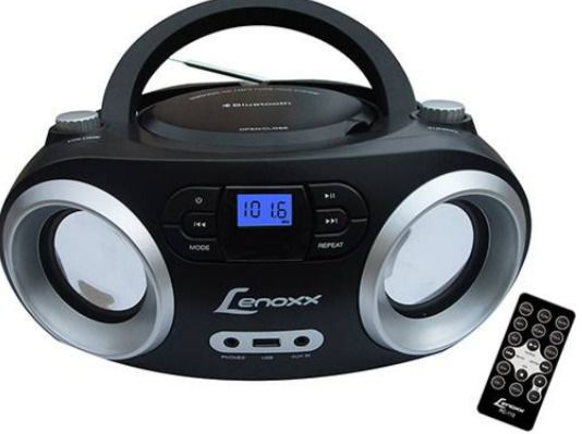 Rádio Lenoxx BD1360 CD Player FM Estéreo MP3 USB e Bluetooth - Preto