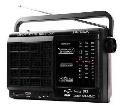 Rádio Motobrás 6 Faixas Rm-pu32ac