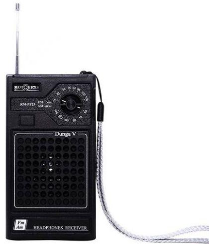 Rádio Portátil Motobras, AM/FM, Dunga