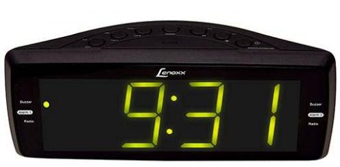 Rádio Relógio Lenoxx RR736 AM/FM Entrada Auxiliar Soneca e Despertador - Preto