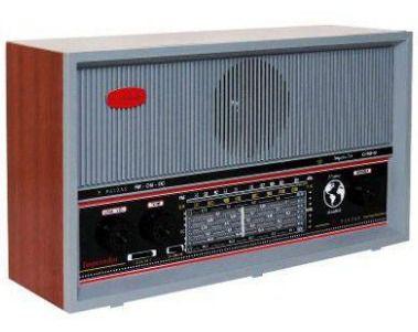 Radio Retro de Madeira 6 Faixas Imperador Cinza Crmif-61
