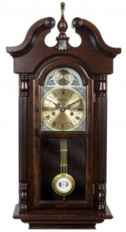 Relógio De Parede Carrilhão Pendulo Madeira Cordas Novo 5355-084