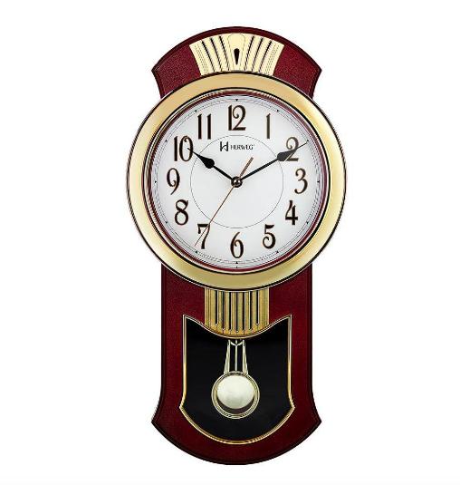 Relógio De Parede Pêndulo Clássico Herweg 6392-179