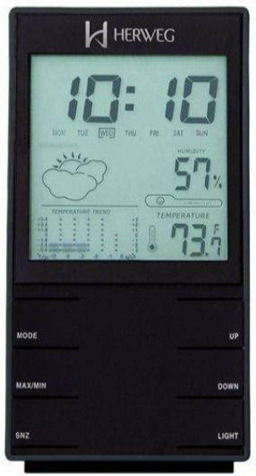 Relógio Despertador Digital Moderno Herweg 2969-35