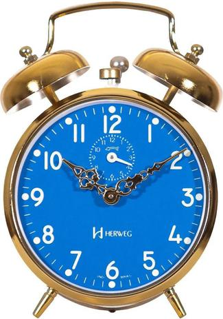 Relógio Despertador Mecânico Clássico Herweg 2234-108