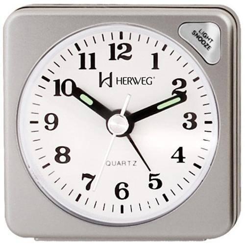 Relógio Despertador Quartz Tradicional Herweg 2510-70