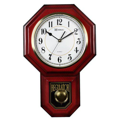 Relógio Parede Carrilhão Gravatinha Musical Pendulo Herweg