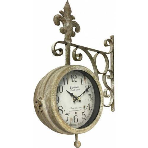 Relógio Parede Dupla Face Estação Herweg 6475