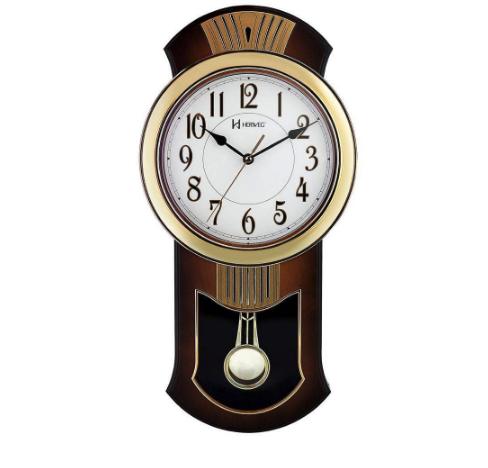 Relógio Parede Herweg 6392 Analógico Pêndulo Refinado