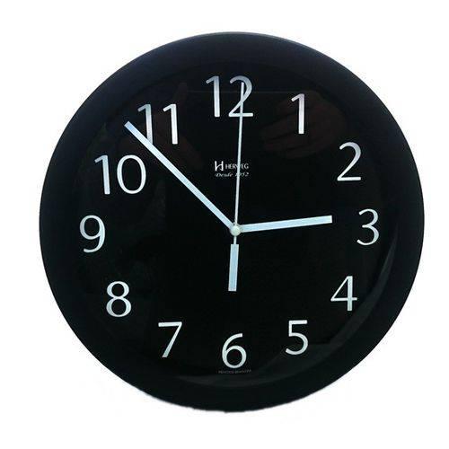 Relógio Parede Herweg 6718 034 Aluminio Preto 24,5cm