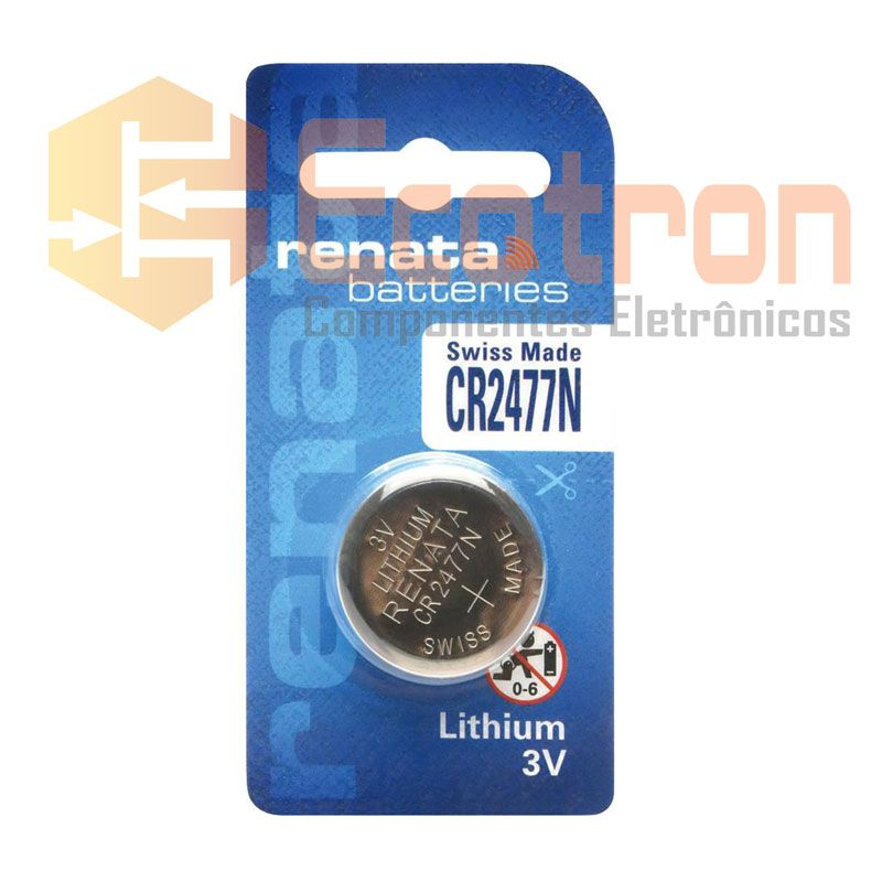 BATERIA DE LITHIUM 3V CR2477N RENATA