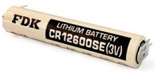 BATERIA DE LITHIUM 3V CR12600SE-P 02 TERMINAIS SOLDA PCI FDK_SANYO (CR12600SEP)