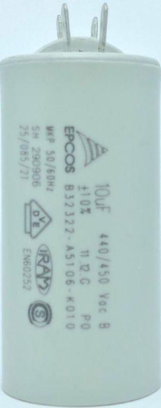 CAPACITOR PPM 10UF 440VCA/450VCA B32322-A5106-K010 35X71MM FASTON EPCOS (B32322A5106K010)