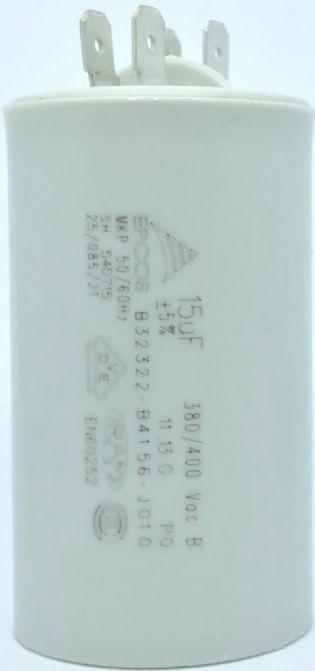 CAPACITOR PPM 15UF 380VCA/400VCA B32322-B4156-J010 40X71MM FASTON EPCOS (B32322B4156J010)