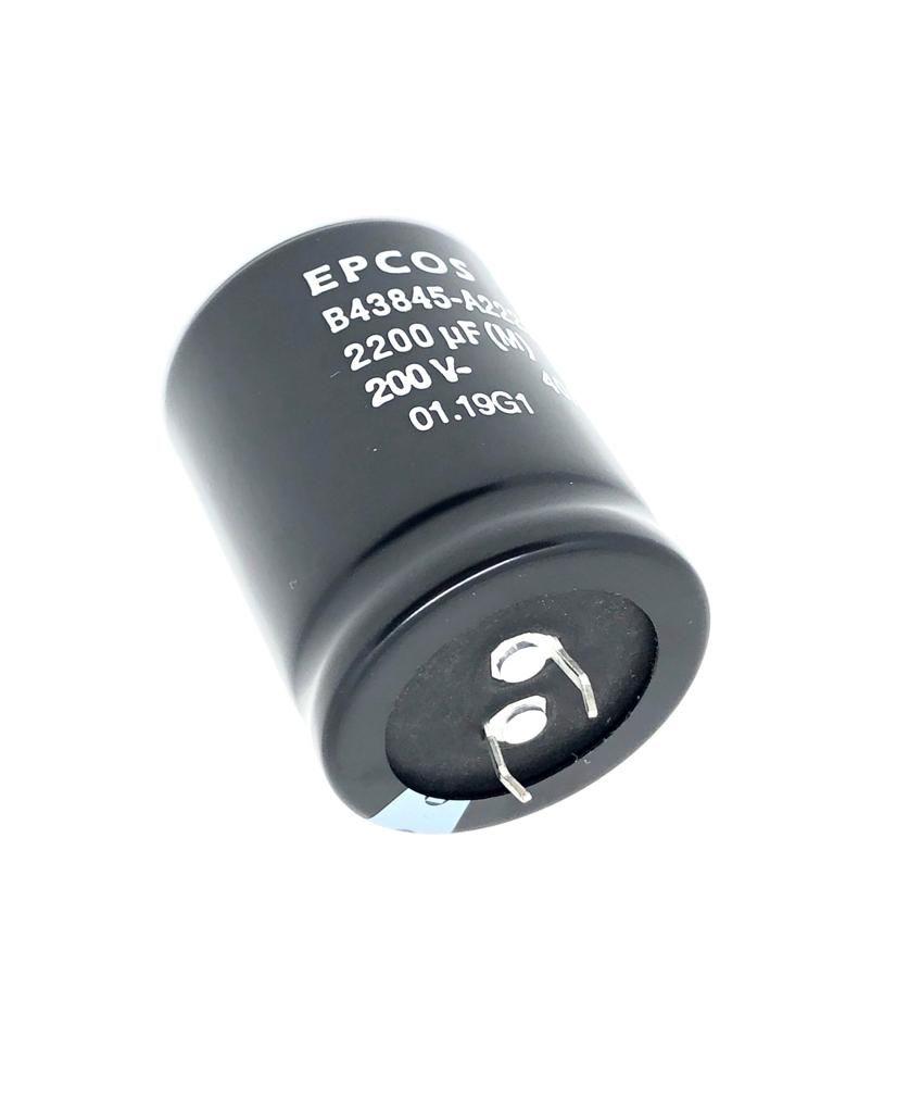 CAPACITOR 2200UF 200V B43845-A2228-M 35X45MM EPCOS (B43845A2228M0)
