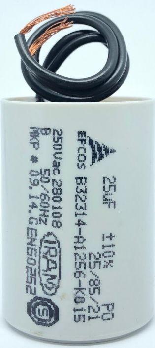 CAPACITOR 25UF 250VAC B32314-A1256-K015 36x51mm TERMINAL FIO EPCOS