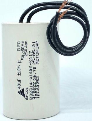 CAPACITOR 40UF 250VCA B32314-A1406-K015 / B32314-A1406-K017 40x62MM TERMINAL FIO EPCOS