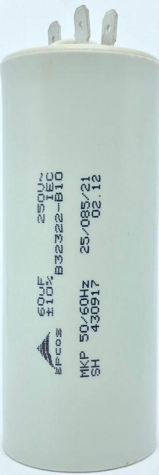 CAPACITOR 60UF 250VAC B32322-B10 40x98mm TERMINAL FASTON EPCOS
