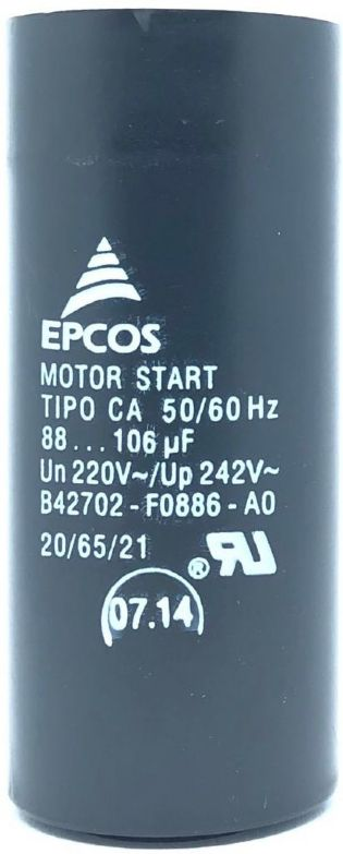 CAPACITOR 88-106UF 220VAC B42702-F0886-A0 EPCOS