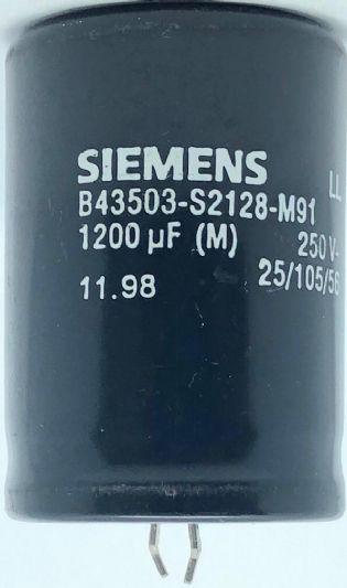 CAPACITOR ELETROLITICO 1200UF 250V 105ºC SNAP-IN 36X50MM B43503-S2128-M91 SIEMENS