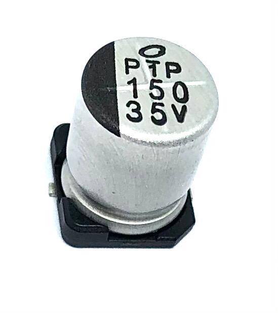 CAPACITOR ELETROLITICO 150UF 35V SMD 105º 8X10MM UWT1V151MNL1GS NICHICON