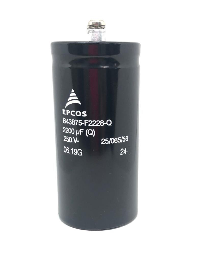 CAPACITOR ELETROLITICO 2200UF 250V 50X105MM B43875-F2228-Q EPCOS ( B43875F2228Q)