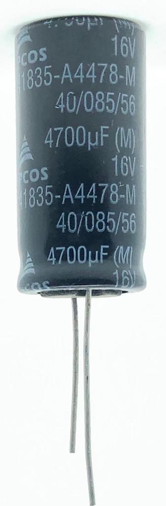 CAPACITOR ELETROLITICO 4700UF 16V RADIAL B41835-A4478-M EPCOS
