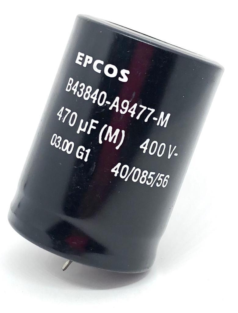 CAPACITOR ELETROLITICO 470UF 400V B43840-A9477-M EPCOS (B43840A9477M)