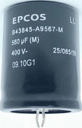 CAPACITOR ELETROLITICO 560UF 400V B43845-A9567-M