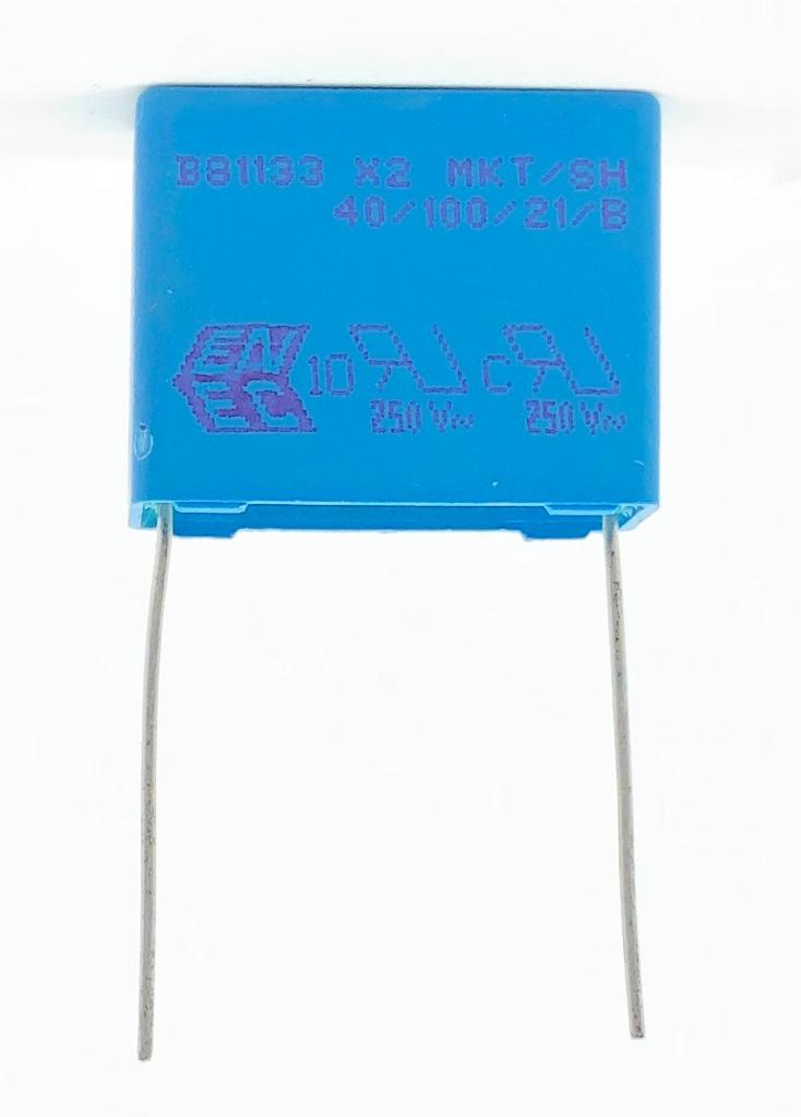 CAPACITOR POLIESTER SUPRESSOR X2 470NF 275VAC 22,5MM B81133-D1474-M EPCOS (470K 275VAC)