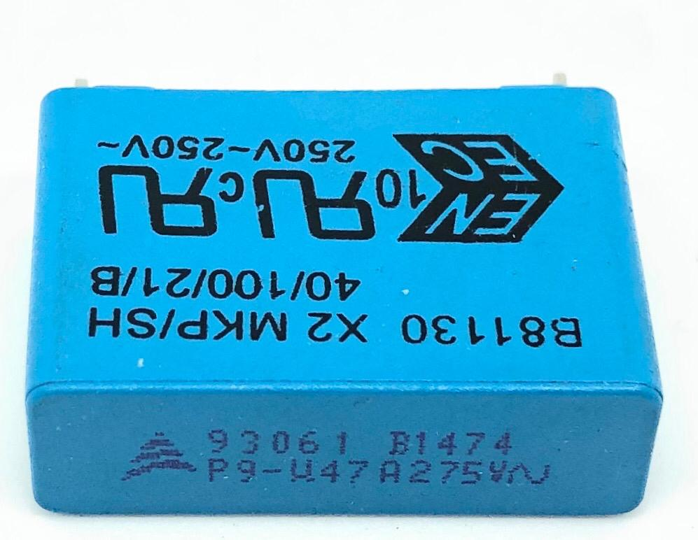 CAPACITOR POLIESTER SUPRESSOR X2 470NF 275VAC 27,5MM B81130-B1474-M EPCOS (470K 275VAC)