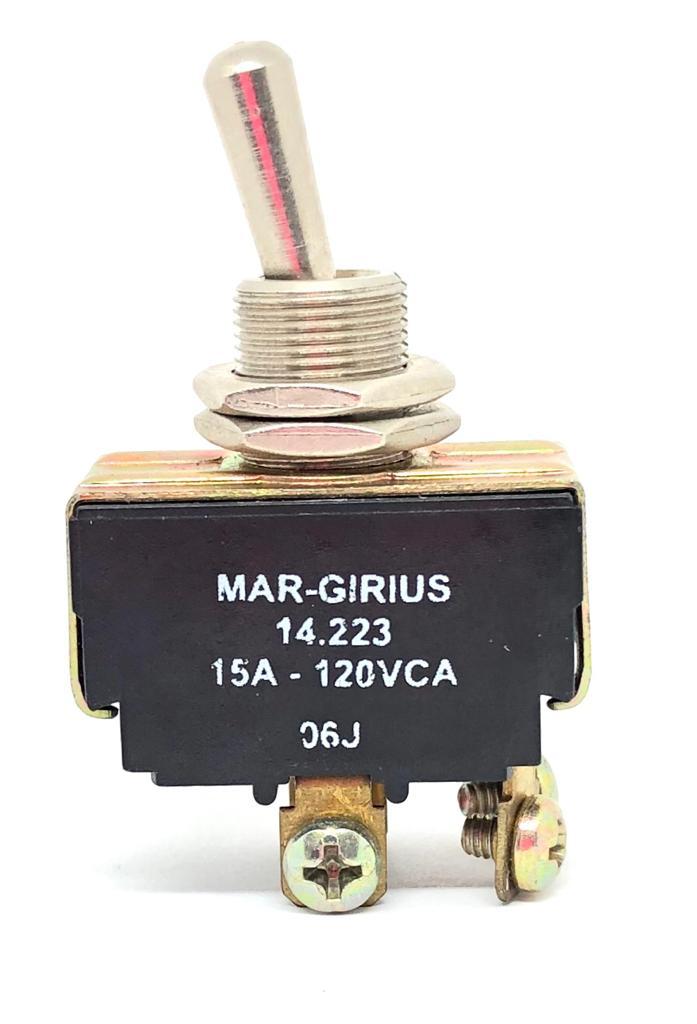 CHAVE ALAVANCA METALICA 02POSIÇÕES LIGA-DESLIGA 14223-A1-B1-P1-Q MARGIRIUS (14223A1B1P1Q)