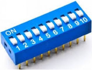 CHAVE DIP SWITCH 10VIAS 180º DS10180P
