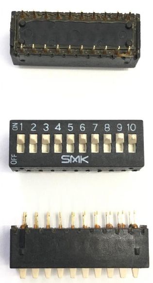 CHAVE DIP SWITCH 10VIAS 180º JS8794-10YS SMK